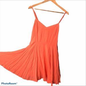 Lovely swing summer dress in coral sz 8 Talula